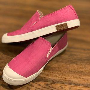 EUC UGG Brand Linen Canvas Sneakers